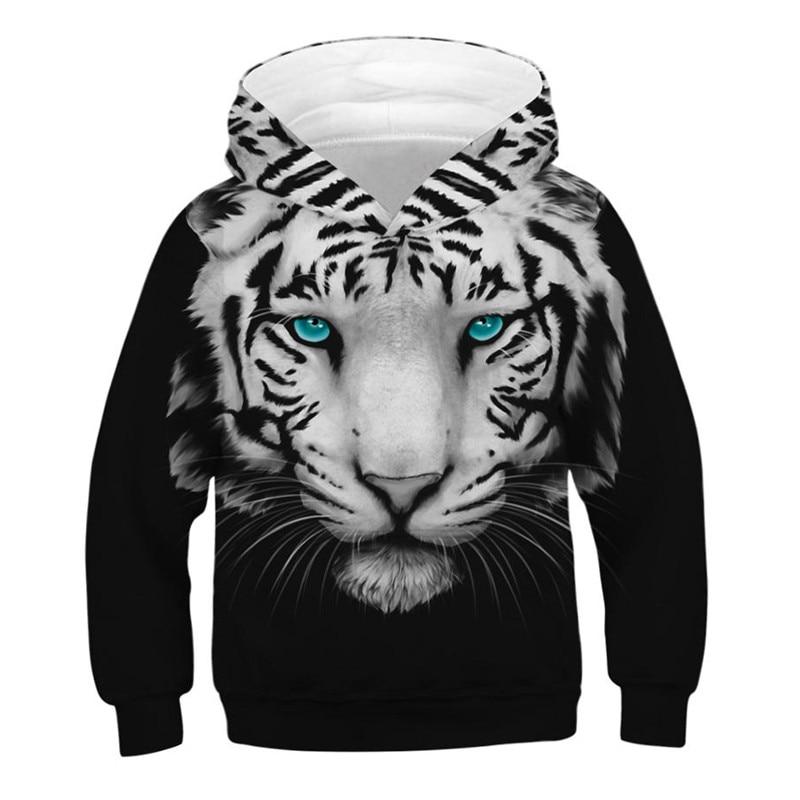 Primavera otoño moda niños sudaderas Tigre 3D impreso Teen Boys Girls oversize Hoodie sudaderas niños pulóveres Tops