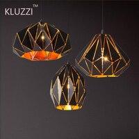 2019 KLUZZI Home decorations black Vintage homemade pendant lamp led pendant light Living room restaurant cafe