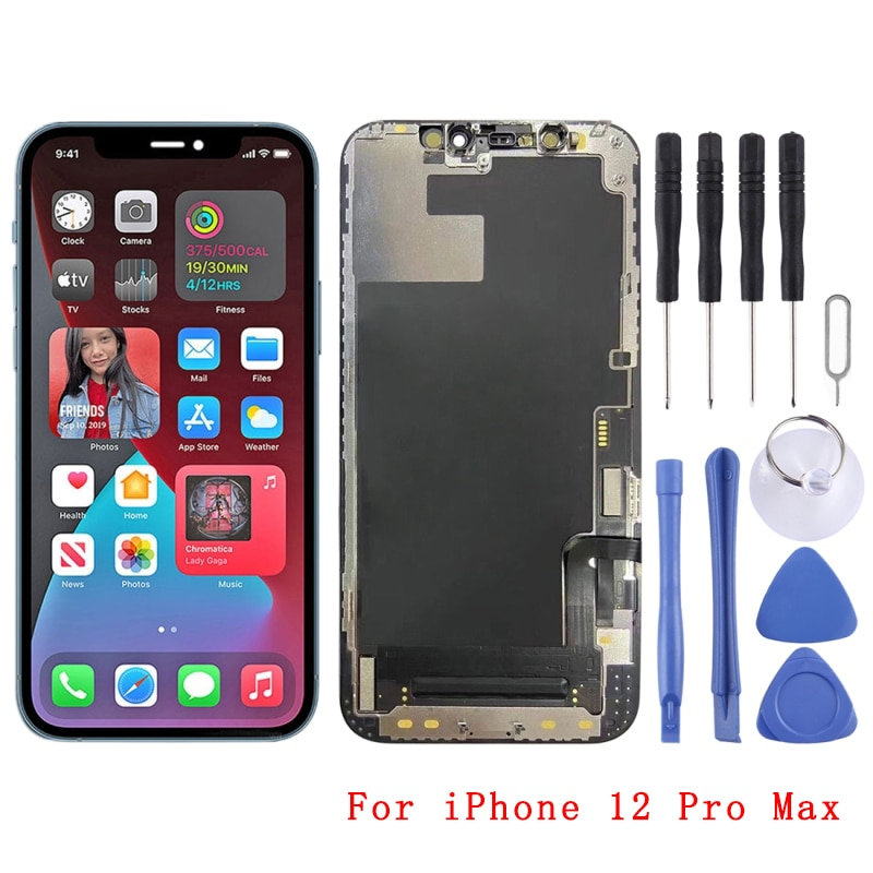 الأصلي شاشة LCD و محول الأرقام الجمعية الكاملة آيفون 12/آيفون 12 Mini/آيفون 12 برو/آيفون 12 برو ماكس