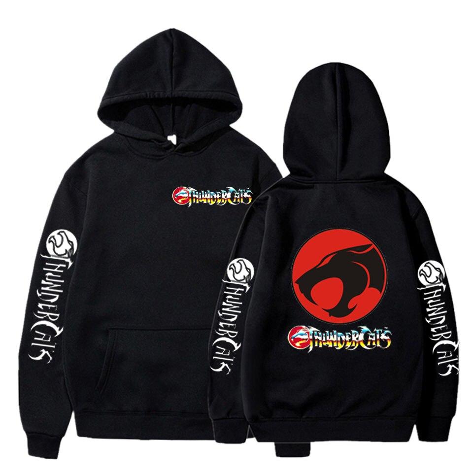 Размера плюс толстовки Thundercat кофты; Женские; С капюшоном; Уличная одежда с капюшоном в стиле хип-хоп, пуловер с рисунком из аниме Harajuku гром Од...