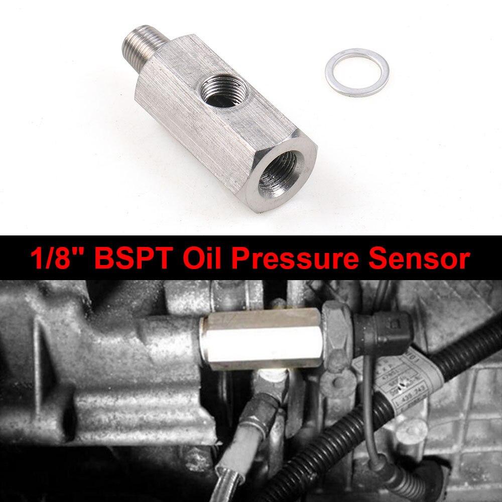 Auto 1/8 BSPT Sensor de presión de aceite Tee a NPT ajuste Turbo línea de alimentación Piezas Turbo aceite adaptador de alimentación, montaje piezas de coche