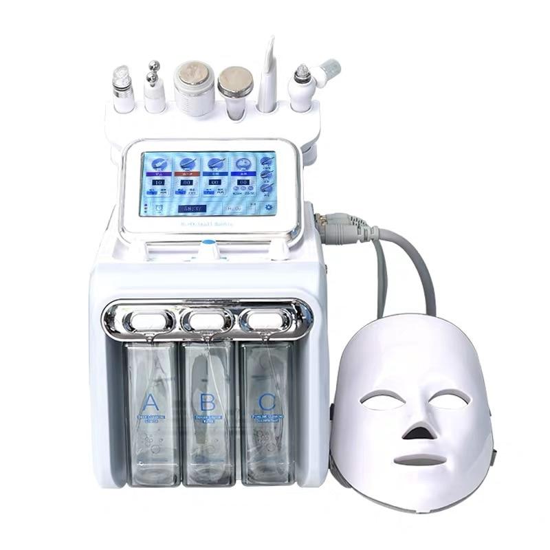 7 في 1 هيدرا هنا قشر سبا مائي الوجه آلة دايموند هيدفاسي الوجه الجمال جهاز تجميل المنزل الكهربائية الكورية