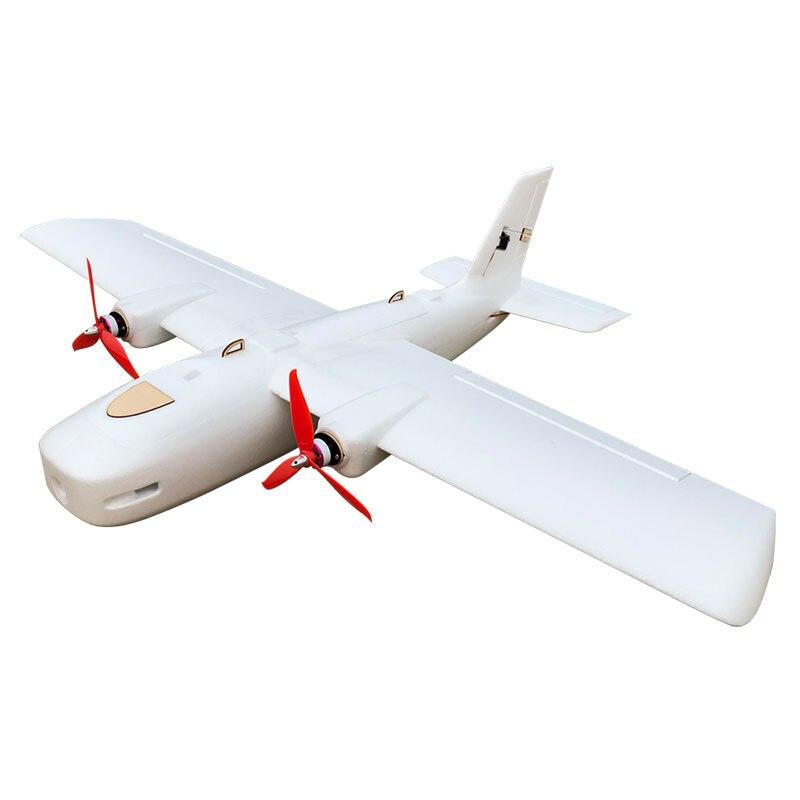 New DF Great White Shark Wingspan 1116mm FPV Flying Wing EPP Foam Twin Motor UAV RC Airplane for Kids Children Toys enlarge
