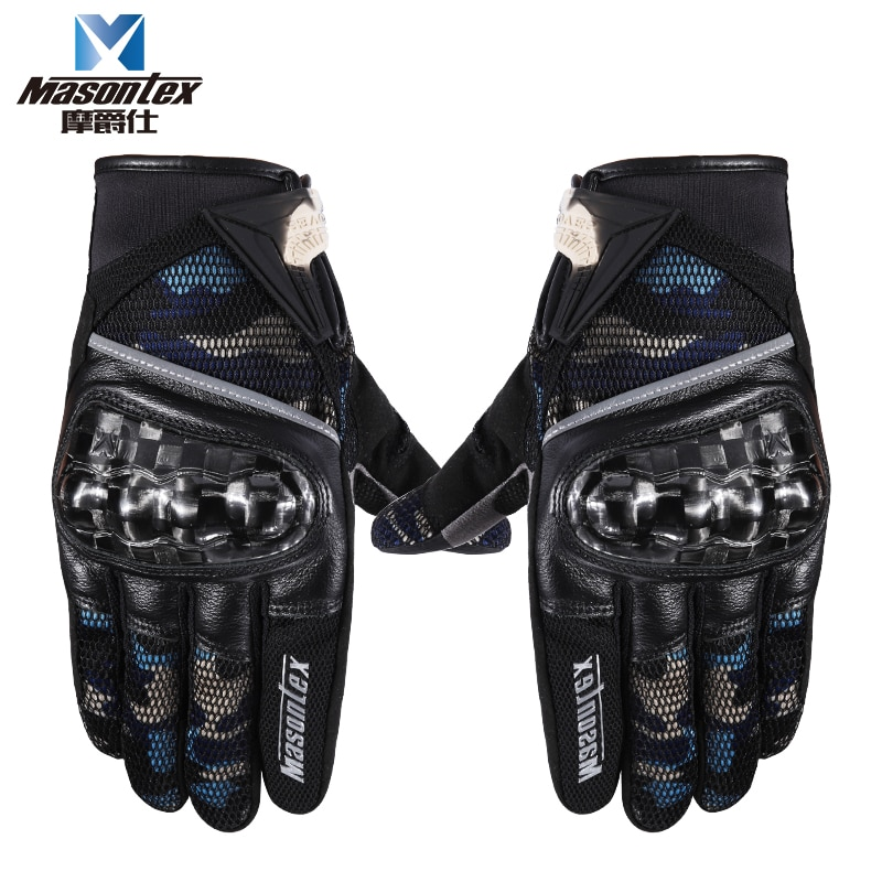 free shipping newest rs 390 full skin perforated carbon fiber glove motorcycle racing gloves full finger 3 size 3 color Masontex Motorcycle Man's Full Finger Gloves Motocross Racing Motorbike Bicycle Fashion Camouflage Carbon Fiber Protective Gears