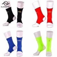 1 pair thai boxing sports ankle brace compression socks foot protective gear gym fitness sanda muay thai equipment protector leg