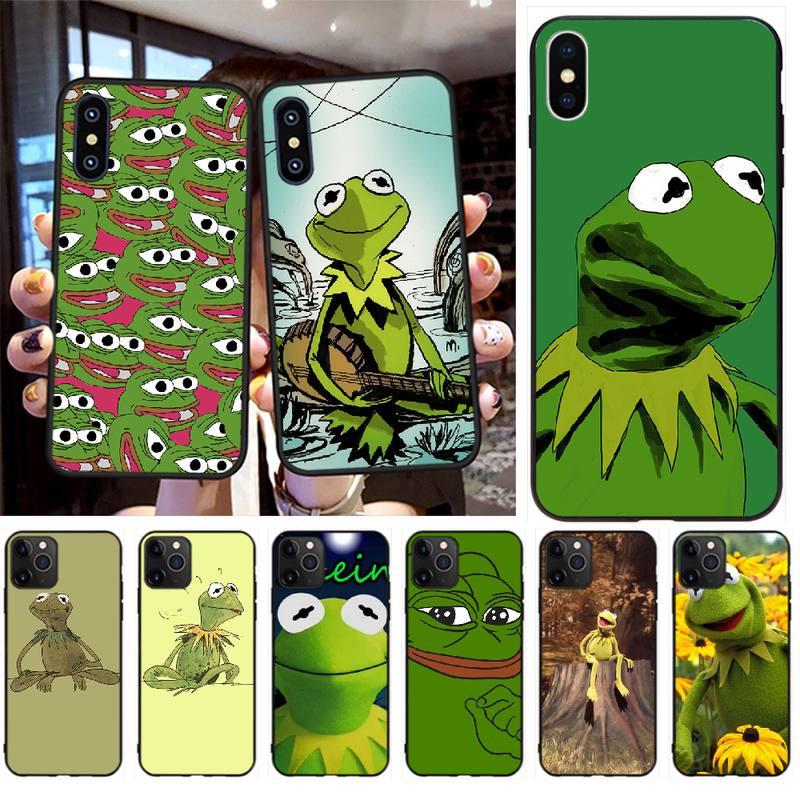 NBDRUICAI Kermit la Rana Coque caja del teléfono Shell para iPhone 11 pro XS MAX 8 7 6 6S Plus X 5S SE XR caso