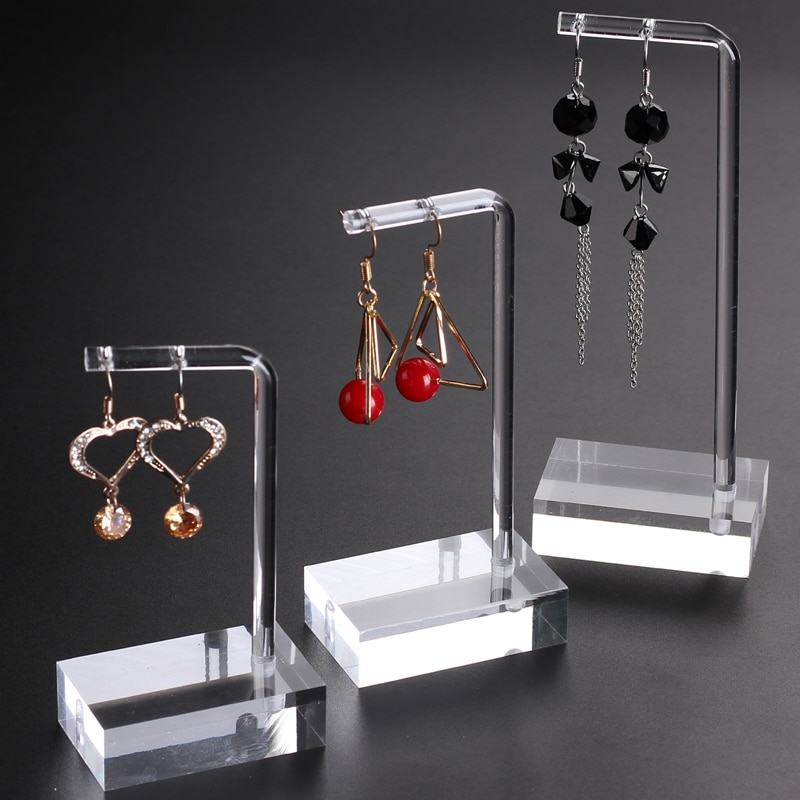 Clear Acrylic Hanging Earring Display Stand Jewelry Showing Case Earring Organizer Earring Holder Je