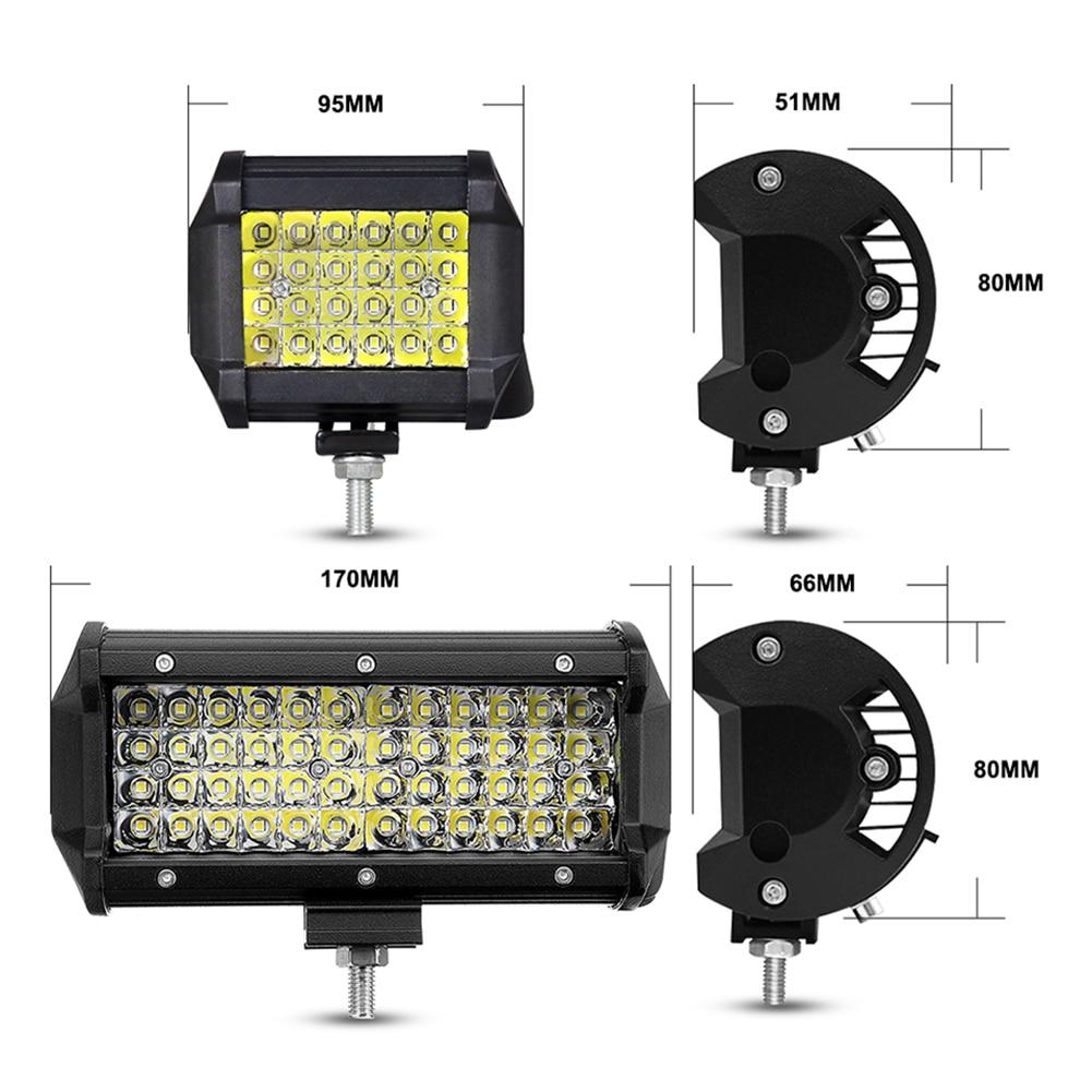 ANMINGPU 144W Spotlight LED Bar Off Road 12V 24V LED Light Bar/Work Light for Truck SUV 4WD 4x4 Boat ATV Car Barra LED Headlight