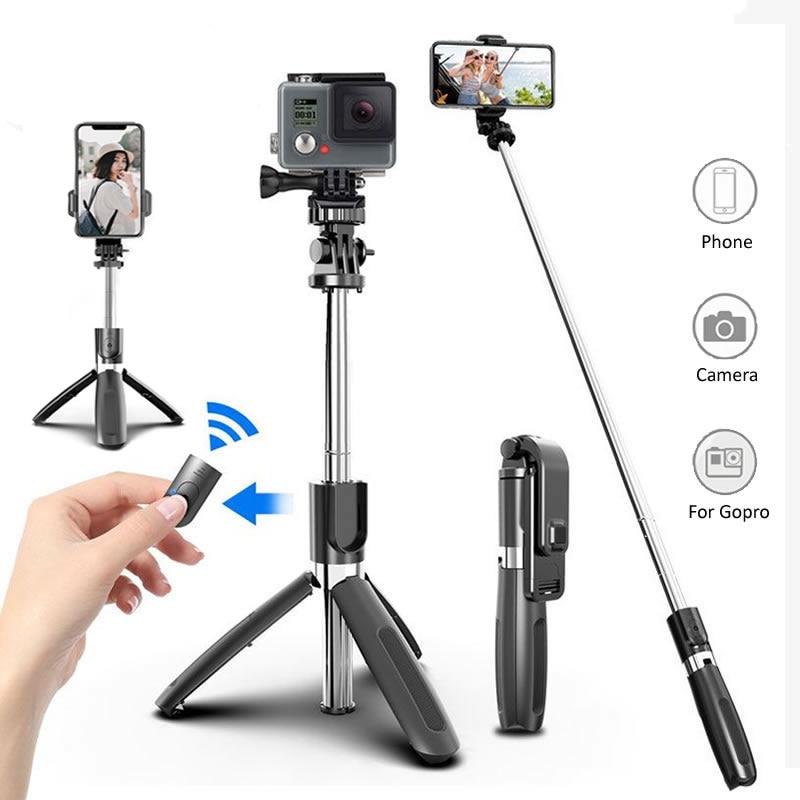 Беспроводная селфи-Палка с поддержкой Bluetooth, складной штатив, универсальные штативы для смартфонов для спортивной экшн-камеры Gopro