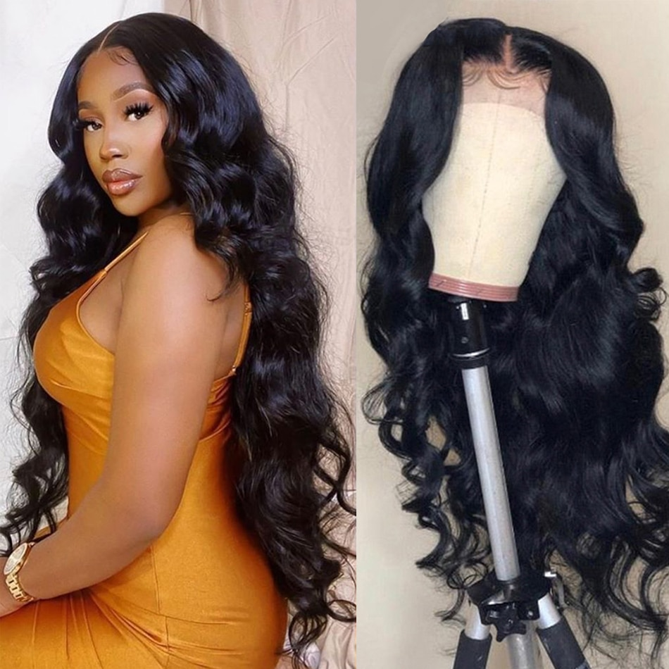 Body Wave Lace Front Human Hair Wigs Remy Indian Hair Wavy Wig 150% Density Lace Frontal Wigs For Bl