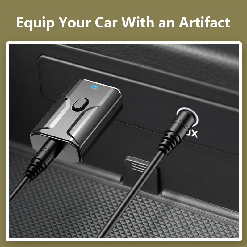 Mini USB Bluetooth 5,0 transmisor recibidor estéreo Bluetooth adaptador USB 3,5mm AUX para TV PC auriculares hogar adaptador inalámbrico