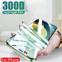 300D Volledige Cover Hydrogel Film Voor Iphone 11 12 Pro Max Mini Screen Protector Iphone 7 8 Plus X Xr xs Max Se 2020 Niet Glas 128Gb