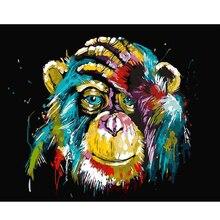 Kleurrijke Orangutan Verf Nummers Voor Volwassenen Kids Diy Foto S Kinderen Peinture Numero Schilderen Op Numme