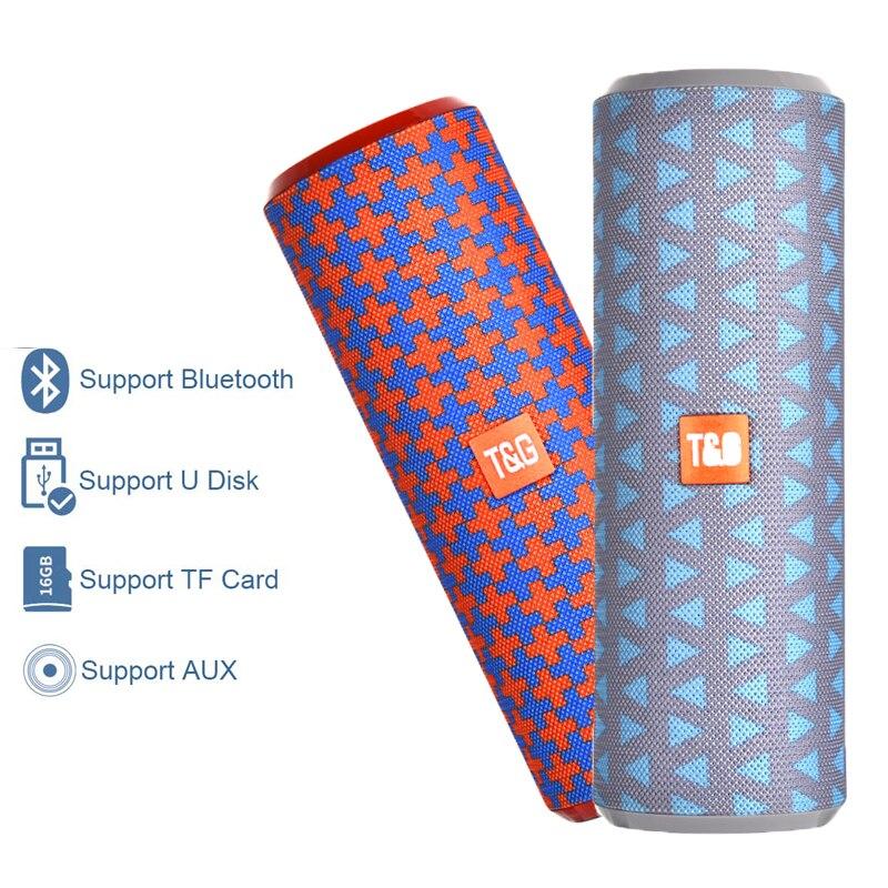 TG Portable Bluetooth Speaker Outdoor Loudspeaker Wireless Mini Column 3D 10W Stereo Music Surround Support FM TFCard Bass Box