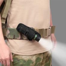 1 Uds. Funda táctica de nailon para linterna cinturón de servicio funda de transporte bolsa ligera portátil para linterna LED soporte protector 2