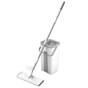 Self-Wringing ic Mop Free Hand Washing Flat Mop Ultrafine Fiber Cleaning Cloth Home Kitchen Wooden Floor Mop Cleaner