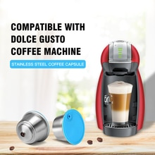 Refillable קפה כמוסה עבור דולצ 'ה גוסטו לשימוש חוזר נירוסטה מסנן כוס עבור נסקפה Cofee מכונת Crema יצרנית