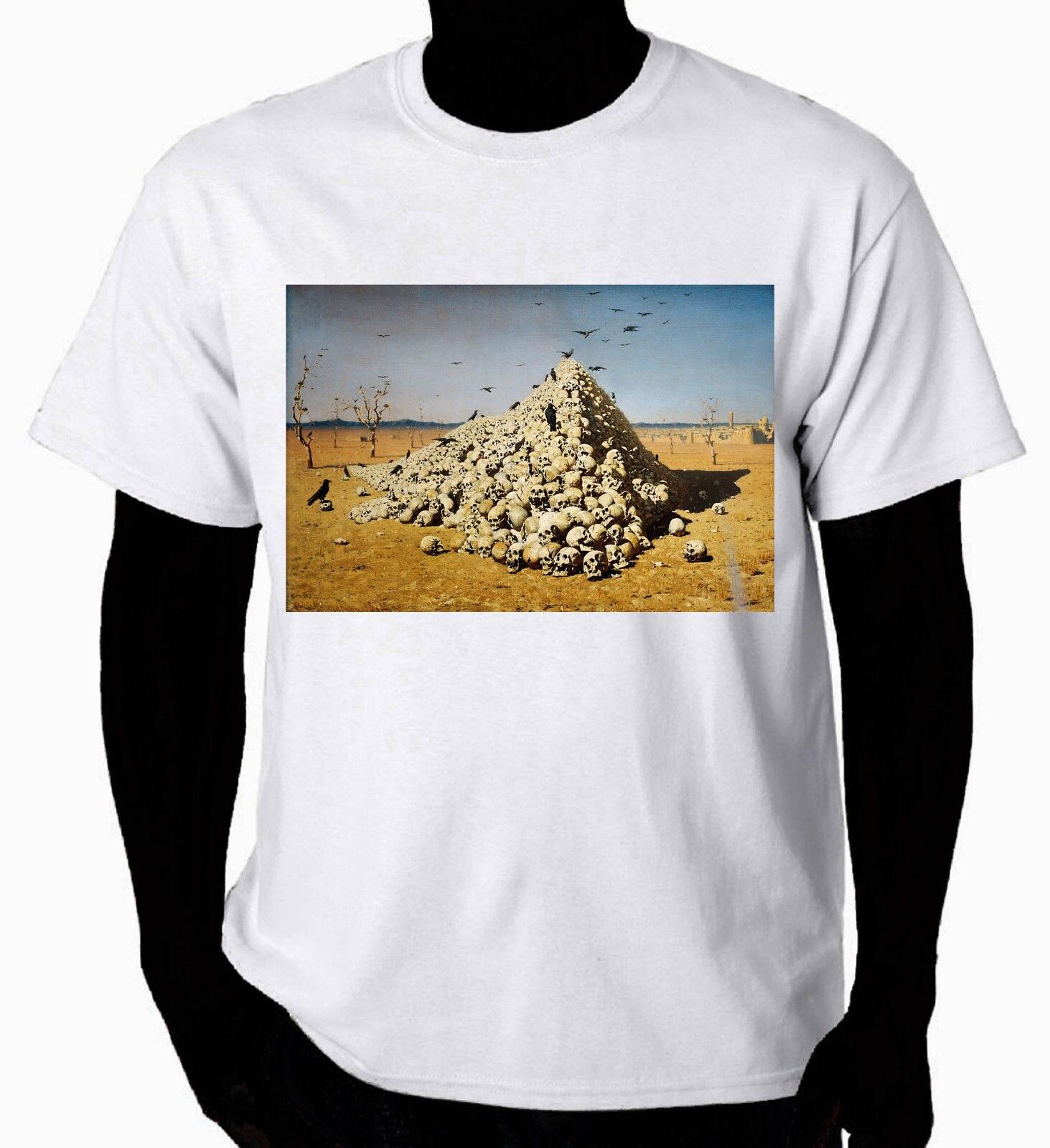 Camiseta artística la apoteosis de la guerra, camiseta a la moda para hombre, Camiseta de algodón Natural a la venta, camiseta de moda para hombre 2017