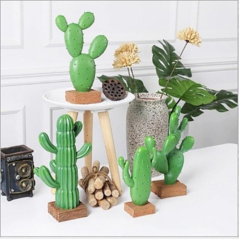 Columna de Cactus de simulación nórdica, muebles creativos para el hogar, mueble de TV, decoración para interiores de escritorio, escritorio multiusos de resina Nórdica