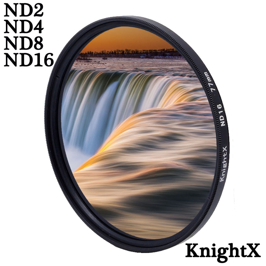 KnightX ND FILTER ND4 ND8 ND16 For canon nikon d80 700d light d5100 60d Camera Lens 49mm 52mm 55mm 58mm 62mm 67mm 72mm 77mm nisi 58mm nd1000 ultra thin neutral density filter 10 stop for digital slr camera nd 1000 58mm slim lens filters
