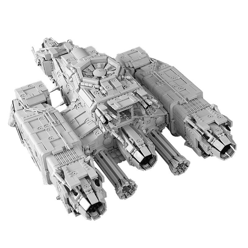 MOC-9803 Space Series Wars USCSS NOSTROMO Diy Building Blocks Bricks Collection Plan Toys Gifts Children Kids