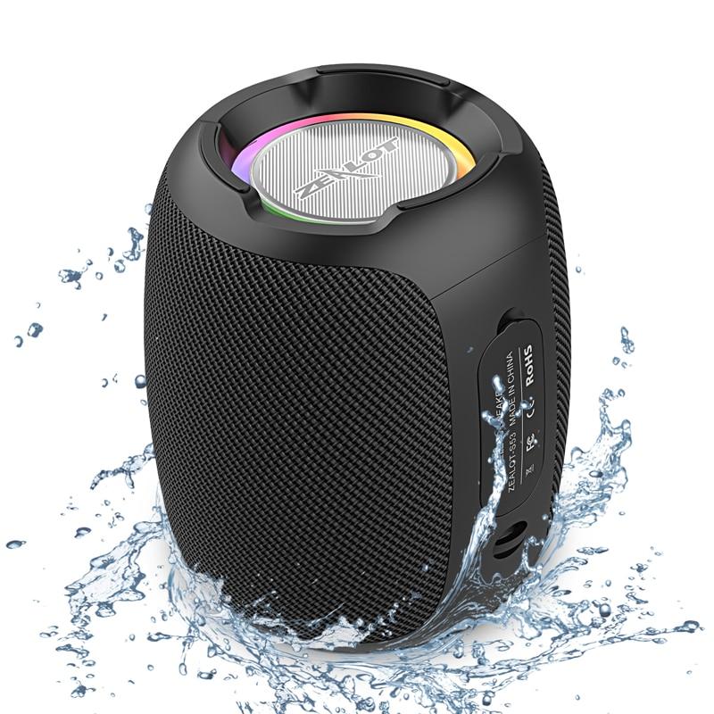 ZEALOT S53 سماعة لاسلكية تعمل بالبلوتوث المتكلم 24 ساعة 20 واط سوبر بصوت عال بلوتوث المتكلم IPX6 مقاوم للماء للهاتف TF بطاقة FM