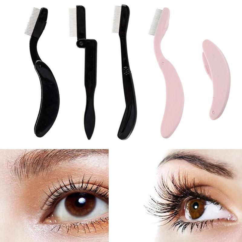 Foldable Eyelash Comb Metal Brush Lash Separator Mascara Curler Brush Lash Lifting New Women  Beauty