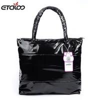 womens handbag 2020 winter handbag cotton down bags shoulder bags for women top handle bags solid bag bucket fashion totes soft