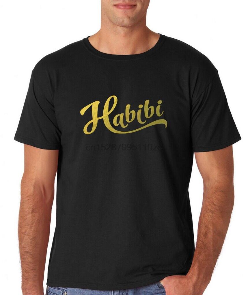 Habibi ArabicMen T Shirts Gold All Sizes Colors