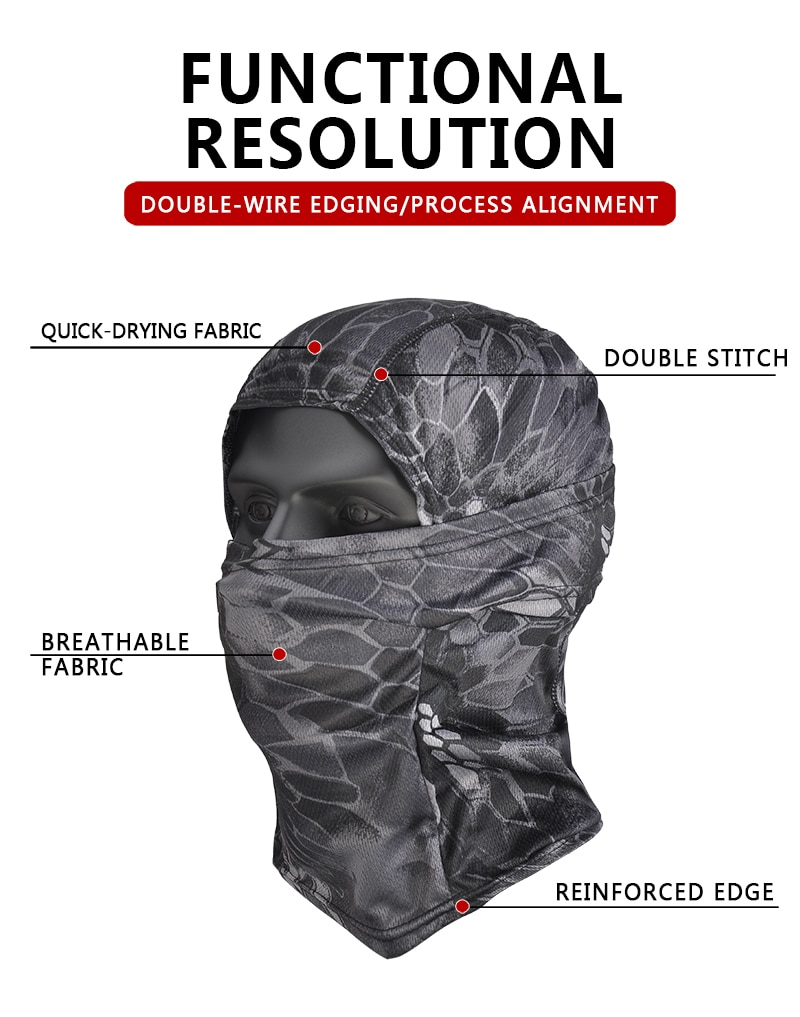 Купить с кэшбэком Multicam Balaclava Hiking Scarves Tactical Military Camouflage Cap Full Cover Face Scarf Breathable Dropshipping Cycling Fishing
