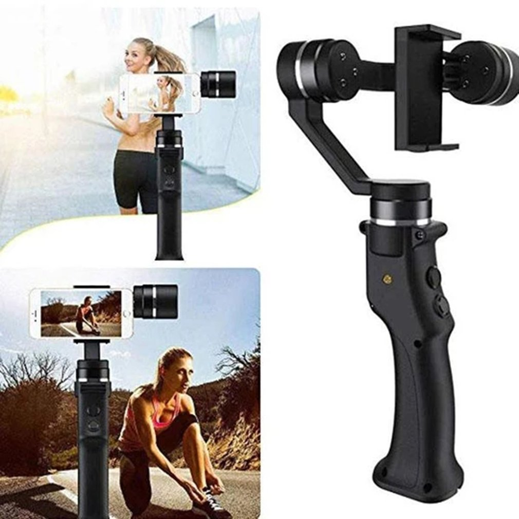 C1 titular de mano anti - shake a motion estabilizador de cámara móvil selfie para teléfono estabilizador portátil triaxial de la cámara