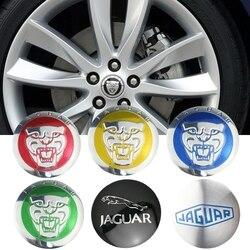 56mm hub decoração para jaguar e pace etype xe xk xj xf f ritmo f-type x-type s-type xjs xjl xj6 xkr liga roda centro adesivo