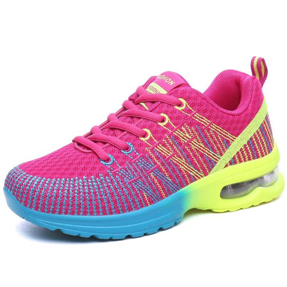2020 Осенняя спортивная обувь, женские кроссовки, женская обувь для бега, дышащие кроссовки на шнуровке, женские кроссовки