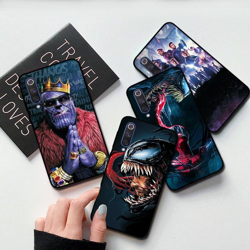 Moda Thanos funda de silicona para VIVO X9 X9S Plus Y85 Z5 V17 IQOO Neo funda fundas de parachoques de TPU negro mate suave