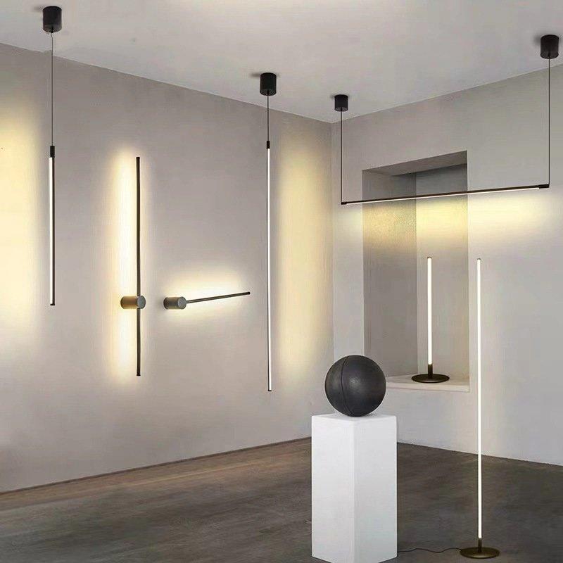minimalista led lampadas de assoalho sala estar led aluminio vertical lampada mesa