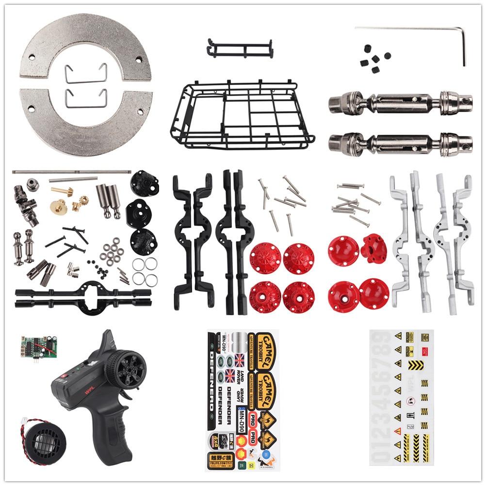 Metal Gear RC Car Parts DIY Upgrade Assemble Spare Set Servo Motor Engine Kit for WPL 1/16 B14 B24 C14 C24 RC Car Modification
