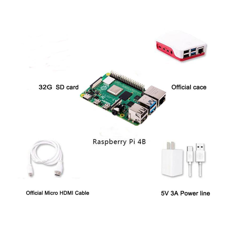 Raspberry Pi 4B 4 Model B 4GB RAM of LPDDR4 SDRAM 1.5GHz 64-bit Quad-core