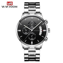 2021 Men's Watch Top Brand Fashion Business Stainless Steel Japanese Movement Calendar Waterproof Qu