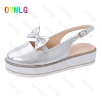 2020 summer new plus size womens shoes flannel bow round toe thick sole single shoes women women sandals shoes woman sandals