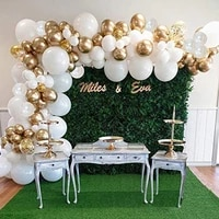 110pcs diy white gold confetti balloons garland arch kit for wedding baby shower party decoration birthday party ballon supplies