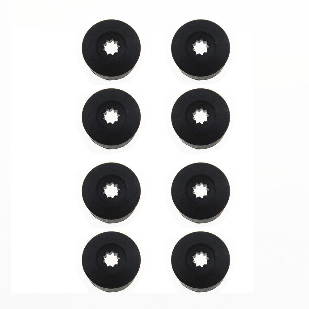 8Pcs 1K0601173A For VW CC EOS Polo Golf Jetta Caddy Passat 1K0 601 173A Y20 Black Car Wheel Lug Nut Bolt Cover Caps
