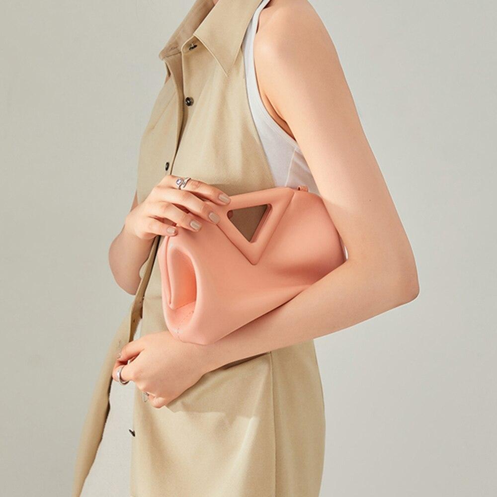 حقيبة بإطار مثلث من ThePoint موضة 2021 حقائب مصممة جديدة للسيدات حقيبة أنيقة للسيدات حقيبة يد يومية حقائب زلابية ناعمة