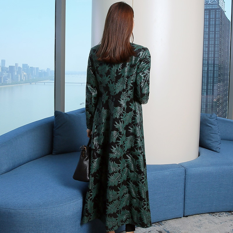 Sheepskin Coat Women's Fur Printing Coat Genuine Leather Jacket Women Clothes2021Spring Autumn Slim Trench Korean Female Jacket enlarge