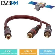 Egygold 8 Lines Av Splitter Audio Cable Suitable for Europe Spain Dvb S2 V8 Nova V9 V7s HD Satellite