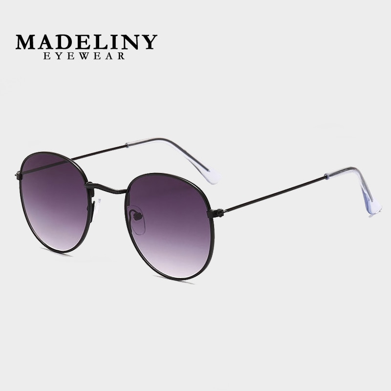 MADELINY Retro Round Steampunk Sunglasses Women Vintage Brand Design Sun Glasses 2020 New Female Dri