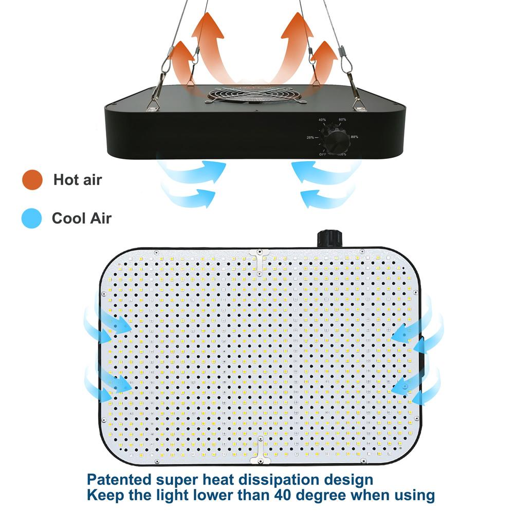 CXST LED Grow Light Full Spectrum Growbox CR600 Diammable Phytolamp for Plants Indoor Lighting Greenhouse Hydroponic Waterproof enlarge