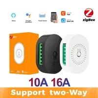Tuya Zigbee     commutateur Hub intelligent  passerelle  prise en charge de la commande bidirectionnelle  telecommande  commutateur 16A 10A  fonctionne avec Alexa et Google Home