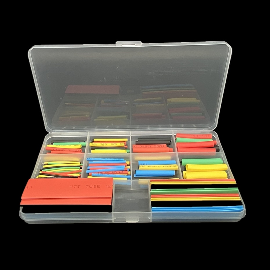 164pcs/Box Set Polyolefin Heat Shrink Tube Shrinkable Wire Cable Insulated Sleeving Tubing Electronic Parts