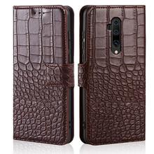 phone Case for Oneplus 7T Pro Case Crocodile texture leather flip Case for Oneplus 7T Pro Case Cover