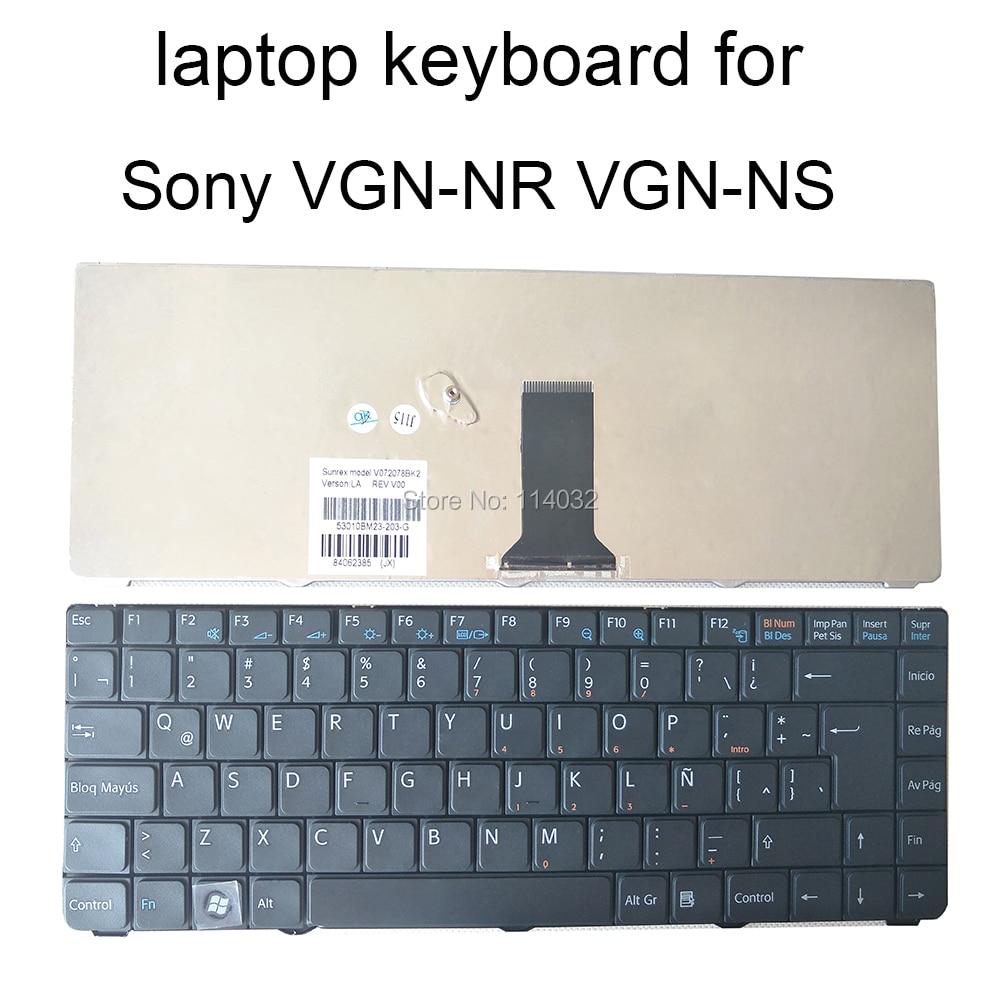 Substituição do portátil teclados para sony vaio vgn nr vgn ns vgnnr vgnns la latin preto teclado reparação parafuso v072078bk2 84062293